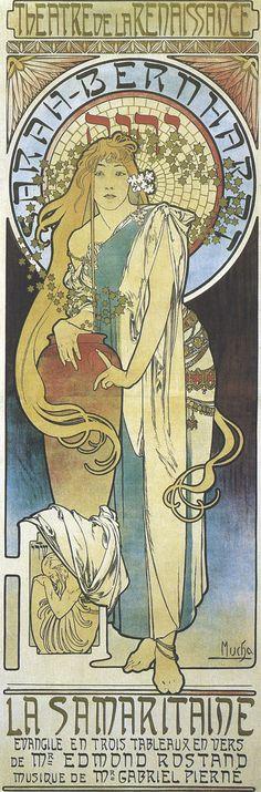 Alphonse Mucha, a poster for the actress Sara Bernhardt