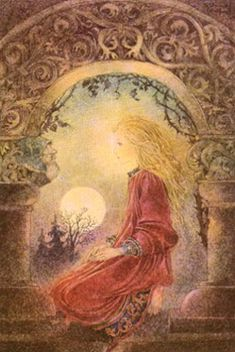 Fairy and fantasy art by Sulamith Wulfing. Links to posters, art prints, books. Fairytale Art, Fairy Art, Moon Art, Pics Art, Online Art Gallery, Painting & Drawing, Illustrators, Fantasy Art, Fairy Tales