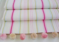 pink striped roman blind by the nursery blind company | notonthehighstreet.com