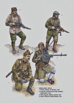 Armies of the Greek-Turkish War Military Diorama, Military Art, Military History, Hellenic Army, Greek Soldier, Interwar Period, Ww2 Uniforms, Greek Warrior, Turkish Army