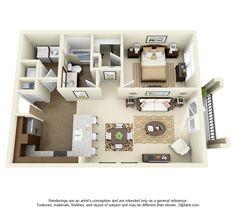"50 One ""1"" Bedroom Apartment/House Plans | Pinterest | Bedroom ..."