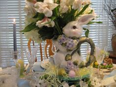 Easter Tablescape., My Inspiration for my tablescape was my love for Easer. I tried to use as many pastel colors for this Easter table. I do...