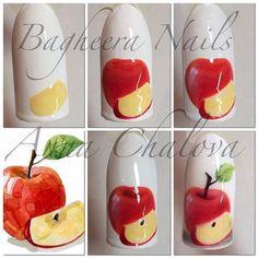 Маникюр - дизайн ногтей Nail Art Fruit, Food Nail Art, Nail Art Blog, Fruit Nail Designs, Purple Nail Designs, Nail Art Designs, Diy Paso A Paso, Nail Art For Beginners, Cat Nails