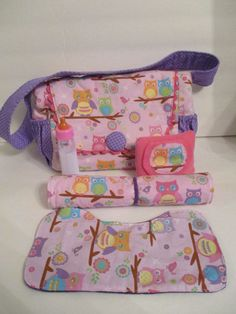 Baby Doll Diaper Bag With Diaper Changing Pad by KraftsbyAngandLiz