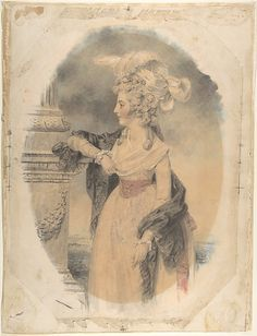 Elizabeth Ford, later Lady Colville of Culross  John Downman  (British (born Wales), Ruabon 1750–1824 Wrexham)  Date: 1785 Medium: Watercolor, colored chalk, and graphite