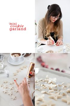 Mini Cookie Garland Trim the Tree with Four Homemade Garlands Salt dough recipe