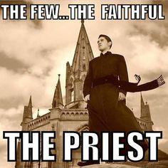 Share all the Catholic Memes! Catholic Priest, Roman Catholic, Catholic Religion, Priest Jokes, Psalm 110, Catholic Memes, Thriller Novels, Christian Warrior, Strong Faith