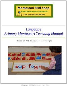 Overview of the Primary Montessori Language Program for Montessori learning at home & school.