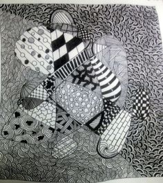 Zentangle Challenge #187: String Theory, Blind String