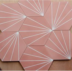 Hexagonal encaustic