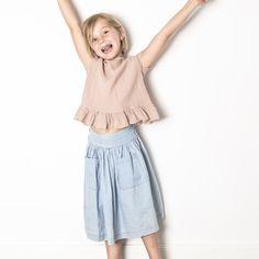 Chambray Maxi Skirt-product