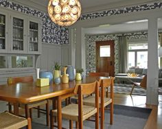 Bold Wallpaper Kicks Up A Century Old Craftsman Design Risks Pay Off In A  Seattle Bungalow That Combines Fearless Patterns With Subtler Colors And A  ... Part 97