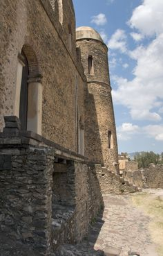 The ruins of Fasilides Castle. Gondar, ETHIOPIA.