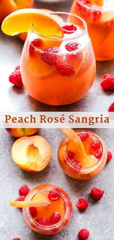 This Peach Rosé Sangria is an easy to make summer cocktail thats perfect for a party or sipping on the patio on a hot day! This Peach Rosé Sangria is an easy to make summer cocktail thats perfect for a party or sipping on the patio on a hot day! Sangria Rosé, Rose Sangria, Peach Sangria Moscato, Sangria Party, White Sangria, Party Drinks, Cocktail Drinks, Fun Drinks, Sparkling Wine Cocktail Recipes
