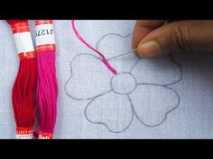 This video about:Hand Embroidery, Net Stitch Embroidery Flower, Modern Flower Embroidery Welcome to Borsha's Craft Channel! I am very happy that you visit my. Hand Embroidery Videos, Hand Embroidery Tutorial, Embroidery Flowers Pattern, Types Of Embroidery, Diy Embroidery, Embroidery Techniques, Cross Stitch Embroidery, Embroidery Designs, Marie Suarez