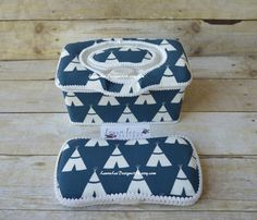 Set of 2 Large Nursery Wipe Case and Travel by LauraLeeDesigns108