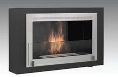 Montreal Wallmount Bio-Ethanol Fireplace - Matte Black ECO-FEU WU-00170-BB