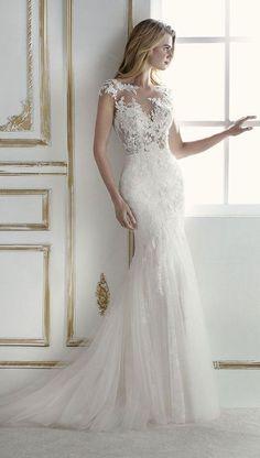 La Sposa 2018 Bridal Collection #pronovias #weddingdresses #bride See more: https://ruffledblog.com/la-sposa-2018-bridal-collection