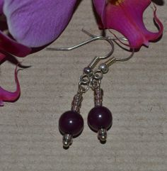 GLASS SEED BEAD EARRINGS - Nice handmade Easter gift ! 99p