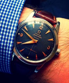 Superb Vintage OMEGA Seamaster Automatic With Waffle Dial Circa 1950s