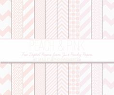 Just Peachy Designs: Free Digital Paper: Pink and Peach
