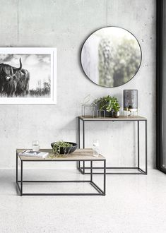 Industrial Home Furniture Options – Industrial Decor Magazine Living Room Decor Kmart, Kmart Decor, Kmart Coffee Table, Hallway Table Decor, Hallway Ideas, Entryway Decor, Side Table Styling, Kmart Home, Cheap Room Decor