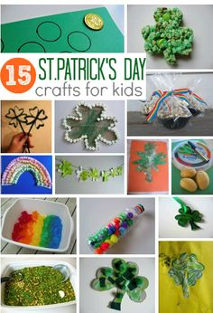 15 St. Patrick's Day crafts for kids - get crafting this weekend with these EASY St.Patrick's Day ideas.  -Repinned by Totetude.com