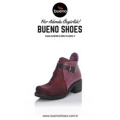 Her sezonun vazgeçilmez rengi bordo, bu yıl da popülerliğini korumaya devam ediyor. 😍 👌  Bueno Shoes ile kış aylarında da stilinizi koruyun...