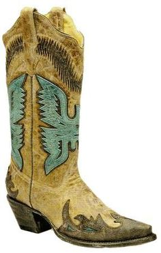 Ladies Antique Saddle/Turqouise-Brown Eagle Overlay R2293 - Cowgirl Clad Company