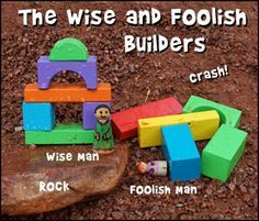 wise man and foolish man craft ideas new testament parable of the wise and foolish builder 8162