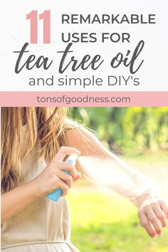 There are many simple, yet effective uses for tea tree oil due to its cleansing properties. You can use it for everything from skincare to household cleaning. I love making my own natural facial toner, natural bug spray for my family, and my own hand sanitizer. Tea tree oil is so versatile, you should definitely have it on-hand! Homemade Essential Oils, Tea Tree Essential Oil, Lemon Essential Oils, Essential Oil Blends, Young Living Oils, Young Living Essential Oils, Tea Tree Oil Uses, Natural Bug Spray, Aromatherapy Recipes