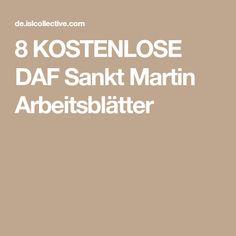 8 KOSTENLOSE DAF Sankt Martin Arbeitsblätter