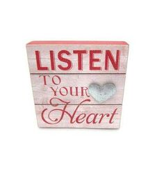 Valentine's Day Word Block-Listen To Your Heart
