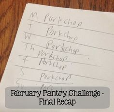 February Pantry Challenge Final Recap including the craziest meal I served my family during this challenge! | 5DollarDinners.com