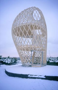 kupla in the winter Lookout Tower, Helsinki, Architecture Details, Finland, Wicker, Vase, Wood, Interior, Furniture
