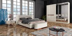 EMIRGAN Furniture Styles, Luxury Furniture, Beige Living Rooms, Dressing Table Mirror, Sliding Wardrobe, Bed Mattress, Double Beds, Bedroom Sets, Luxury Bedding