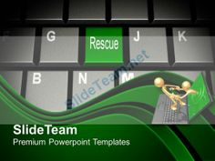 Computer Keyboard With Rescue Key PowerPoint Templates PPT Themes And Graphics 0213 #PowerPoint #Templates #Themes