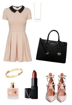"""""""Girls night out/Date night!"""" by chlobug77 on Polyvore featuring Valentino, MICHAEL Michael Kors, Cachet and NARS Cosmetics"""