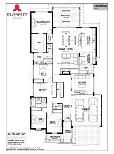 Dream House Plans, House Floor Plans, Summit Homes, Activity Room, Ranch Style Homes, Ranch Homes, House Blueprints, Display Homes, House Layouts
