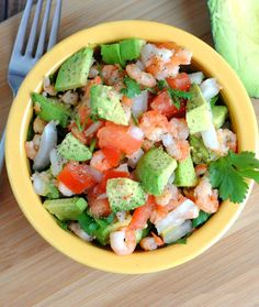 Whole30 Lunches: Shrimp and Avocado Salad