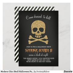 Chic Halloween, Adult Halloween Party, Halloween Images, Halloween Skull, Halloween Costume Party Invitations, Colored Envelopes, Cute Drawings, Paper Texture, Invitation Cards