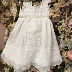 Beautiful antique girl gown