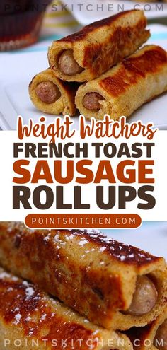 Breakfast Just Got Ten Times Better with These French Toast Sausage Roll Ups - Ketogenic Recipes - Healthy Breakfast Recipes, Brunch Recipes, Healthy Recipes, Brunch Food, Protein Recipes, Brunch Ideas, Healthy Meals, Dinner Recipes, Weight Watchers Breakfast