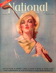 National Home Monthly Magazine Sep 1937 Lady Golfer Cover