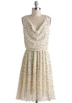 The little colorful hearts and light flowey fabric. Wonderful! The Rainbow Confection Dress, #ModCloth