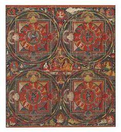 A Thangka of Four Mandalas of Hevajra  Tibet, 16th Century