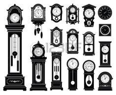 wall clock: Set of clocks.