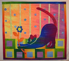 art quilt by Laura Wasilowski