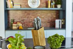 Knife Block, Kitchen, Products, Accessories, Cooking, Kitchens, Cuisine, Cucina, Gadget