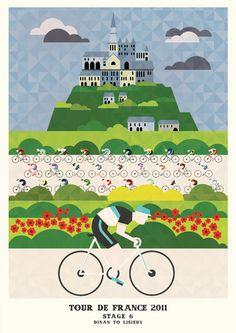 Tour de France Prints (Stages 6-10) by Neil Stevens, via Behance